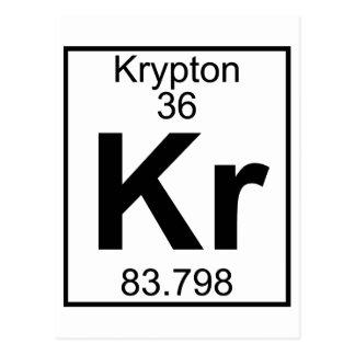 Cartão Postal Elemento 036 - Kr - Crípton (cheio)