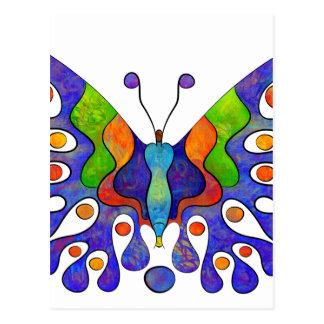 Cartão Postal Elenissina - borboleta colorida