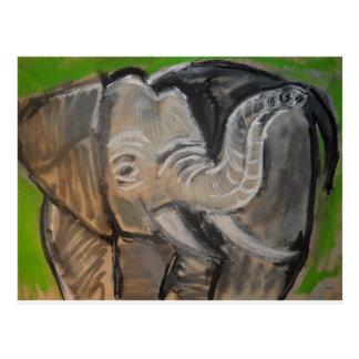 Cartão Postal elephant#7