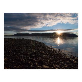 Cartão Postal Elevação de Sun sobre o Hudson