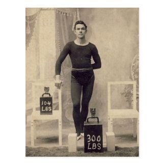Cartão Postal Elevador de peso do vintage