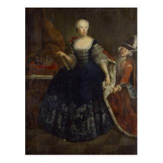 Cartão Postal Elisabeth Christine von Bransvique como a rainha