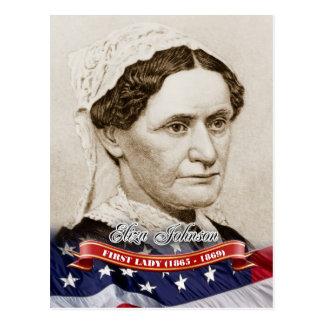 Cartão Postal Eliza Johnson, primeira senhora dos E.U.