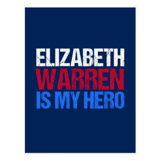 Cartão Postal Elizabeth Warren é meu herói