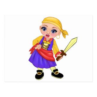 Cartão Postal Ella a princesa Enchanted Que Ser Você? Pirata