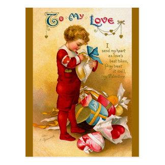 Cartão Postal Ellen H. Clapsaddle: Eu envio meu coração