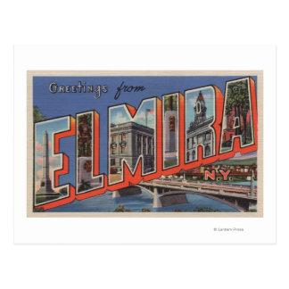 Cartão Postal Elmira, New York - grandes cenas da letra
