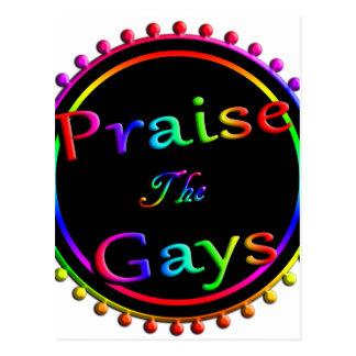 Cartão Postal Elogie os gay