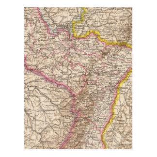 Cartão Postal ElsassLothringen, mapa do atlas de Bayerische