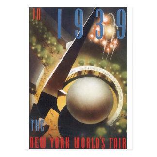 Cartão Postal Em 1939 posição das viagens vintage da feira de