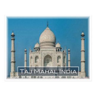 Cartão Postal Em India - o Taj Mahal -