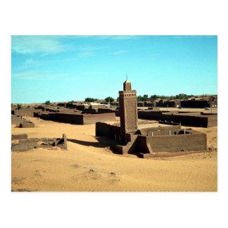 Cartão Postal Em oásis de Salah, o mais morno no Sahara, Argélia