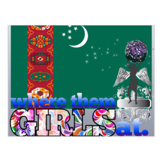 Cartão Postal Em onde eles meninas turquemenas?