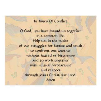 Cartão Postal Em período da oração do conflito