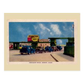 Cartão Postal Embaixador Ponte Windsor Canadá do vintage