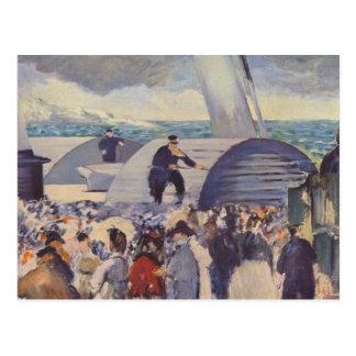Cartão Postal Embarque do Folkestone por Edouard Manet