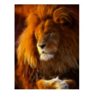 Cartão Postal Embebendo acima o Sun, rei do leão da selva II