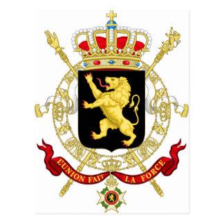Cartão Postal Emblema belga - brasão de Bélgica