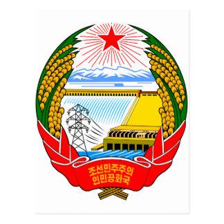 Cartão Postal Emblema da Coreia do Norte