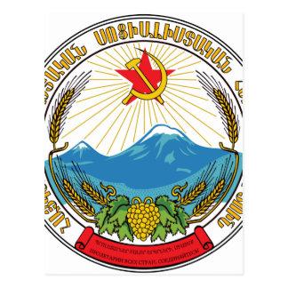 Cartão Postal Emblema da república socialista soviética arménia