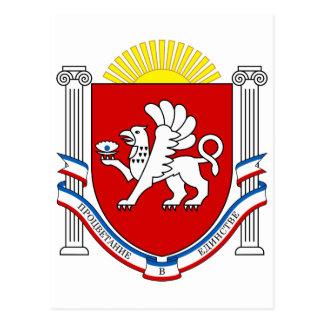 Cartão Postal Emblema de Crimeia