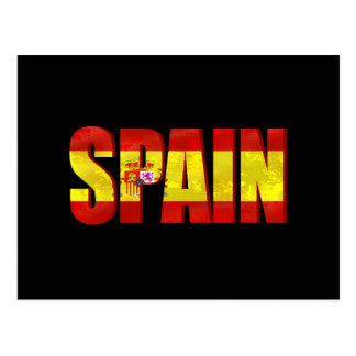 Cartão Postal Emblema do logotipo da bandeira da espanha para