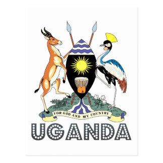 Cartão Postal Emblema do Ugandan