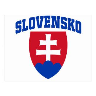 Cartão Postal Emblema eslovaco