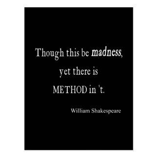 Cartão Postal Embora seja citações de Shakespeare da loucura