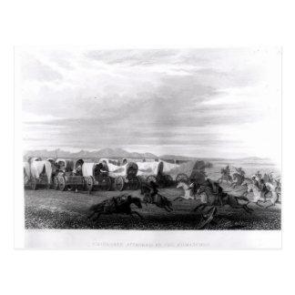Cartão Postal Emigrantes atacados pelos Comanches