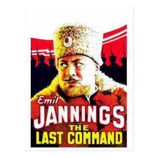 Cartão Postal Emil Jannings - o último comando