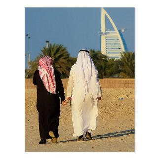 Cartão Postal Emirati da praia do Sheikh do al-Árabe de Dubai