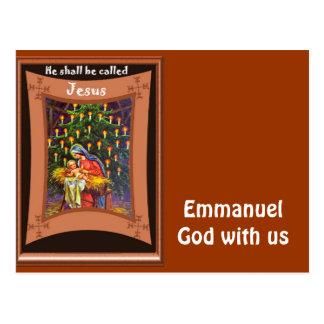 Cartão Postal Emmanuel, deus connosco