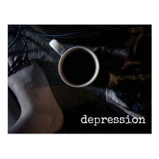 Cartão Postal Emoção escura da tristeza da consciência da