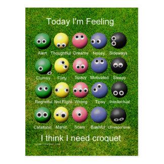 Cartão Postal Emoções do Croquet