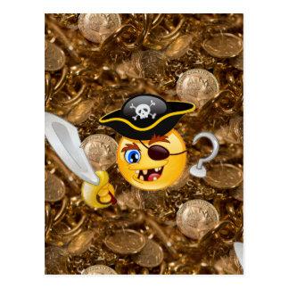 Cartão Postal emoji do pirata do tesouro
