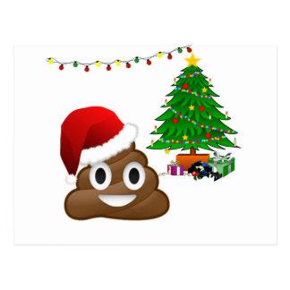 Cartão Postal emoji do poo do Natal