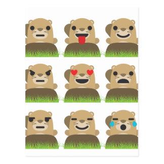 Cartão Postal emojis do groundhog