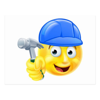 Cartão Postal Emoticon acessível de Emoji do construtor do