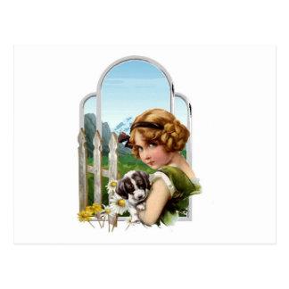 Cartão Postal Empregada doméstica alpina