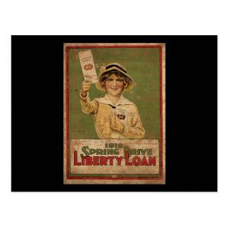 Cartão Postal Empréstimo da liberdade da movimentação de 1918