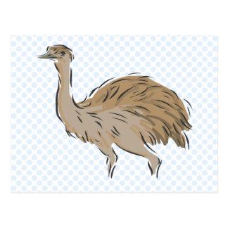 Cartão Postal Emu de Edna