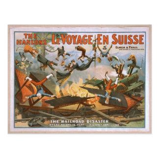 Cartão Postal En Suisse de LeVoyage, 'a estrada de ferro