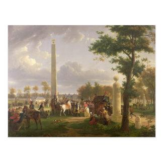 Cartão Postal Encontrando entre Napoleon me e o papa