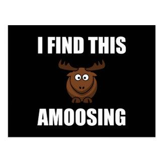 Cartão Postal Encontre este alce de Amoosing