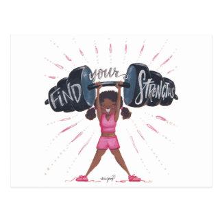Cartão Postal encontre seu fundo do strengths_no