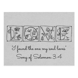 Cartão Postal Encontrou uma alma Loves~Scripture~Save a data
