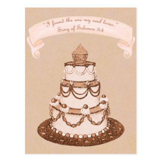Cartão Postal Encontrou uma escritura do bolo de Loves~Wedding