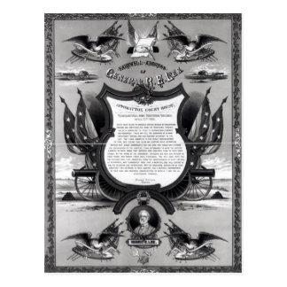 Cartão Postal Endereço de adeus do general Robert E. Lee
