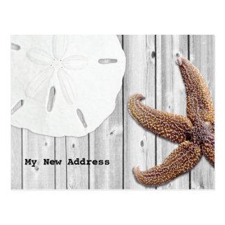 Cartão Postal Endereço novo da praia de madeira da estrela do